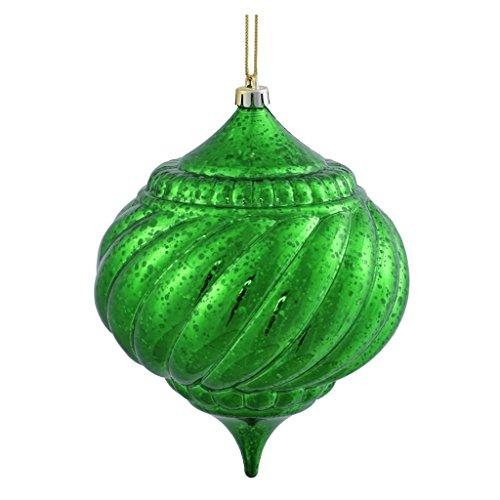 Vickerman 375495 – 6″ Green Shiny Mercury Onion Ball Christmas Tree Ornament (M155704)