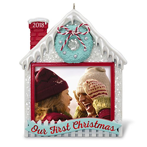 Hallmark Keepsake Christmas Ornament 2018 Year Dated, Our First Christmas Together Picture Frame, Photo Frame, Personalized