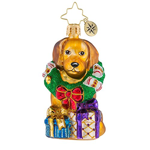 Christopher Radko The Retriever Gets It Little Gem Christmas Ornament