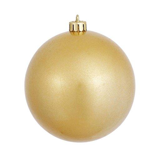 Vickerman 393390 – 4″ Gold Candy Ball Christmas Tree Ornament (6 pack) (N591008DCV)