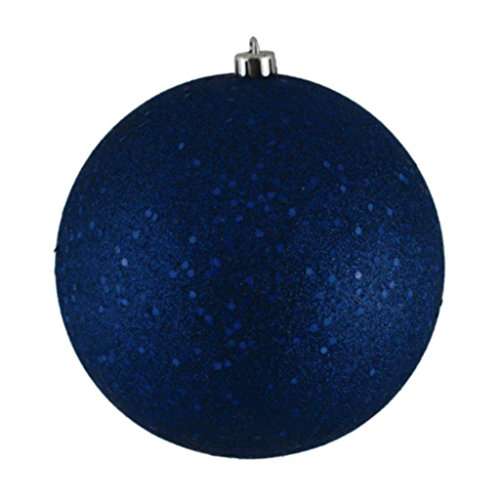 Vickerman 349717-4″ Sea Blue Sequin Ball Christmas Tree Ornament (6 pack) (N591062DQ)