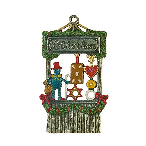Pinnacle Peak Trading Company Gingerbread Stand German Pewter Christmas Tree Ornament Decoration Made Germany
