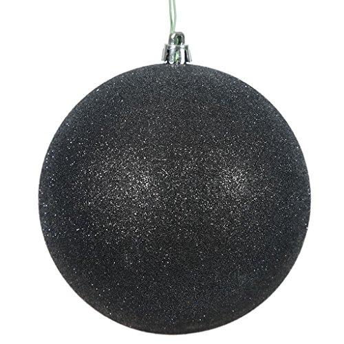 Vickerman 457535-2.75 Black Glitter Ball Christmas Tree Ornament (12 pack) (N590717DG)