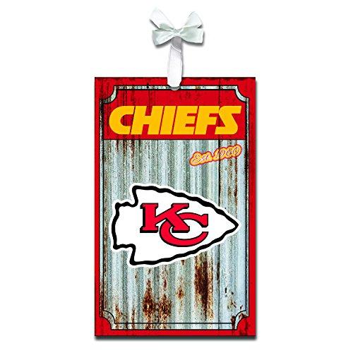 Team Sports America Kansas City Chiefs Corrugated Metal Ornament