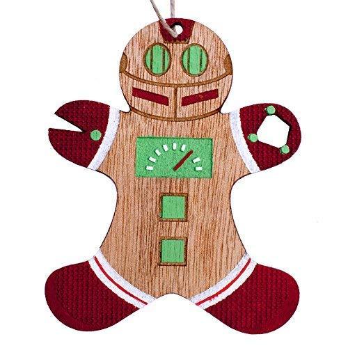 Robot Gingerbread Man Christmas Ornament