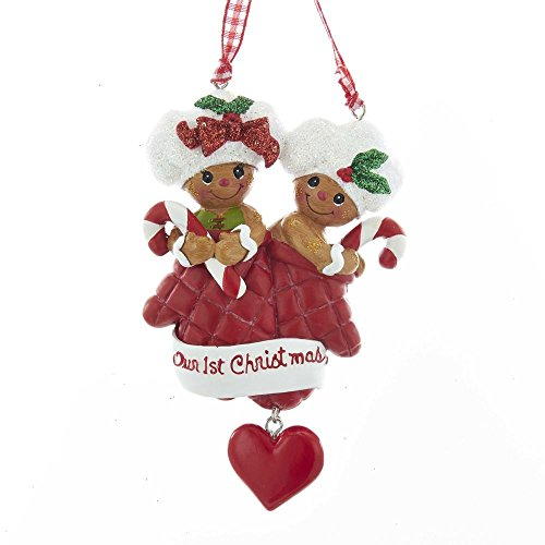 Kurt Adler Holiday Gingerbread Our 1st Christmas Ornament Home Decor
