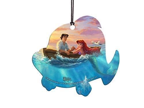 Trend Setters Disney's The Little Mermaid (Thomas Kinkade Art) – Flounder Shaped Decoration Hanging Acrylic Translucent