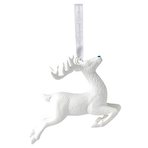 Wedgwood 2018 Annual Holiday Ornament Figural Reindeer White