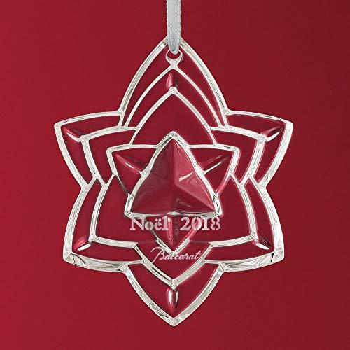 Baccarat 2018 Annual Crystal Christmas Ornament – Clear Star