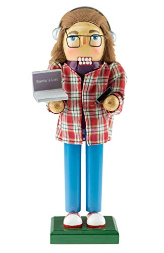 Clever Creations Software Developer Nutcracker | Developer Nutcracker Comes with Laptop and Cellphone | Wearing Plaid Shirt, Glasses and Headphones | Developer Nutcracker Stands at 10″ Tall