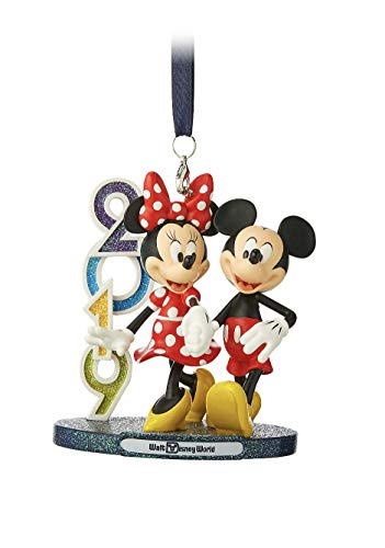 Walt Disney World 2019 Mickey Minnie Mouse Figurine Ornament