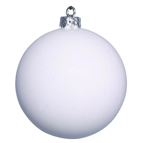 Vickerman 482971 – 4″ White Shiny Ball Christmas Tree Ornament (6 pack) (N591011DSV)