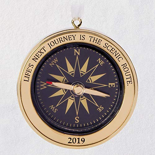Hallmark Keepsake 2019 Year Dated Life's Next Journey Compass Direction Metal Ornament,