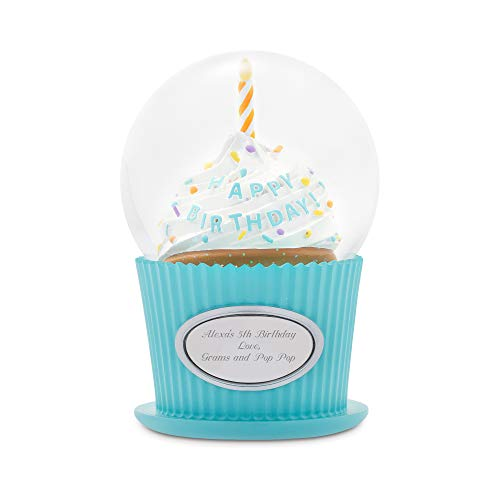 Things Remembered Personalized Happy Birthday Cupcake Snow Globe with Engraving Included