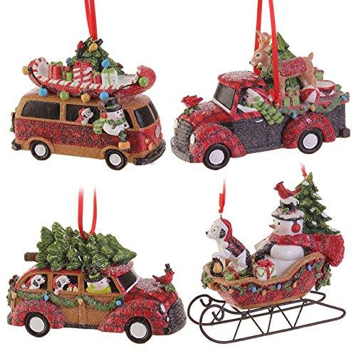 RAZ Imports 5-Inch Traveling Snowmen Ornaments
