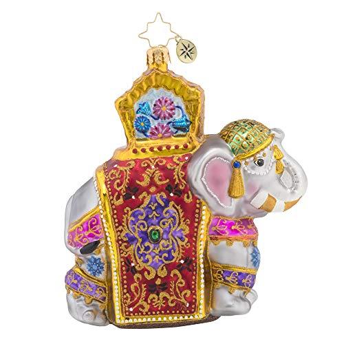 Christopher Radko Elephant Parade Christmas Ornament, Multicolored