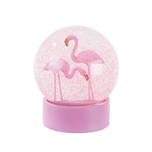 Talking Tables Fun Mix Flamingo Snowglobe