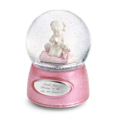 Things Remembered Personalized Praying Girl Musical Snow Globe with Engraving Included