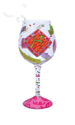Santa Barbara Design Studio Lolita Hand Painted Mini Wine Ornament, Letter H