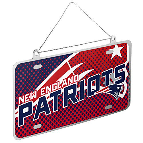 New England Patriots NFL 2015 Metal License Plate Ornament