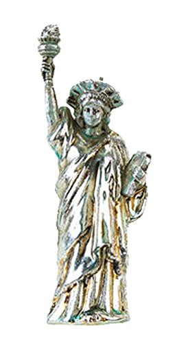 One Hundred 80 Degrees Metallic Gold Silver Statue of Liberty Hanging Ornament (Silver)
