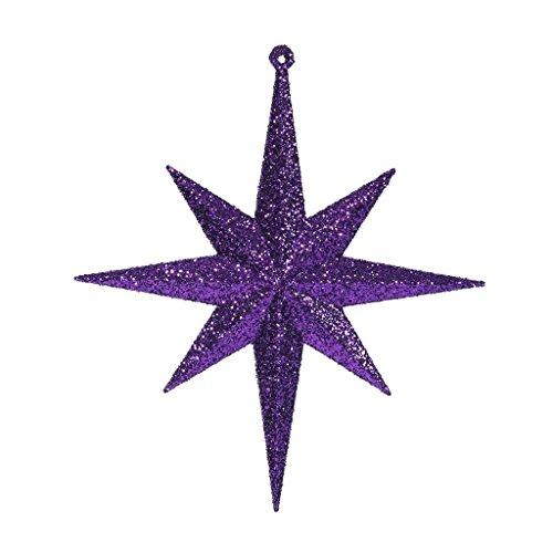 Vickerman 8″ Purple Glitter Bethlehem Star 4/Box