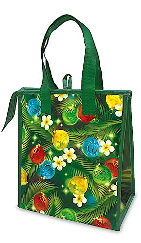 Hawaiian Holiday Small Insulated Lunch Gift Bag Ornaments of the Islands