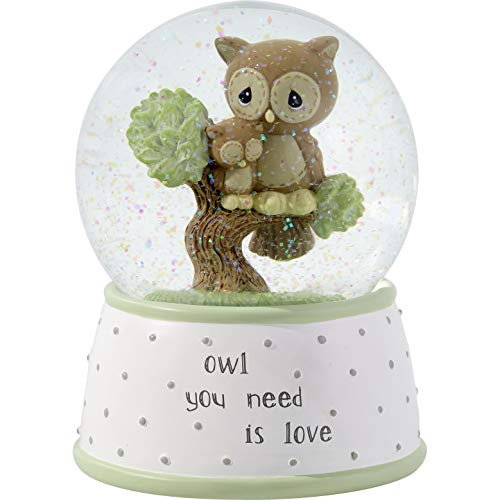 Precious Moments Owl You Need is Love Musical Resin & Glass Snow Globe 183101 WATERBALL One Size Multi
