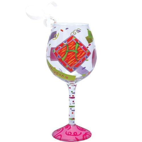 Santa Barbara Design Studio Lolita Holiday Mini-Wine Ornament, Letter H