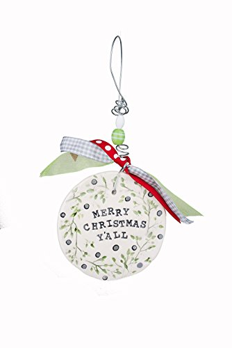 Glory Haus Merry Christmas Y'all Flat Ornament Multicolor