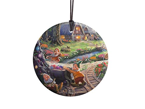 Trend Setters Snow White – Sneezy Bashful Sleepy – Thomas Kinkade – Hanging Glass Collectible – Officially Licensed