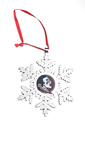 Collegiate Pulse Florida State Seminoles NCAA Snowflake Christmas Ornament