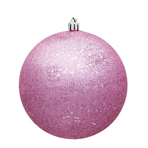 Vickerman 572733-4.75″ Pink Sequin Ball Christmas Tree Ornament (4 pack) (N591279DQ)
