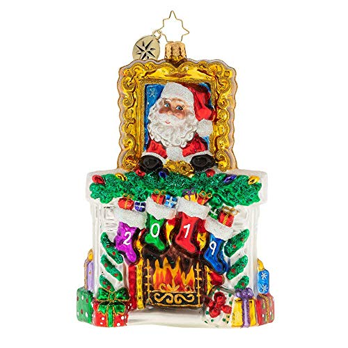 Christopher Radko 2019 Fireside Christmas Ornament, Multicolor
