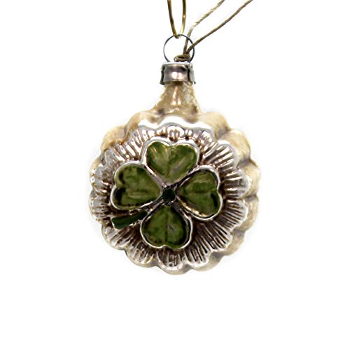 Marolin Lucky Clover Glass Ornament Feather Tree 2011062.