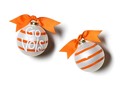 Coton Colors University of Tennessee Stripe Glass Ornament