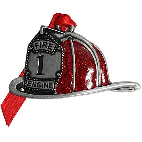 Gloria Duchin Pewter Fire Helmet Christmas Ornament, Multicolor