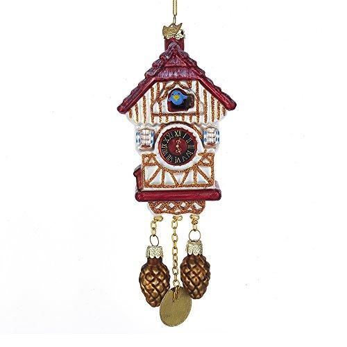 Kurt Adler Kurt S. Adler Noble Gems Cuckoo Clock Glass Ornament