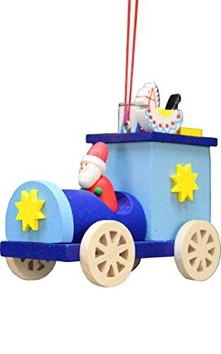 Alexander Taron 10-0639 Christian Ulbricht Ornament – Santa Truck – 2.75″ H x 2.5″ W x 1.5″ D Blue