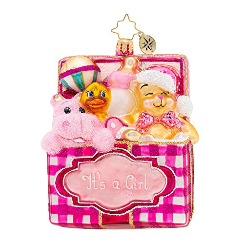 Christopher Radko Trunk of Toys Baby Girl! Christmas Ornament