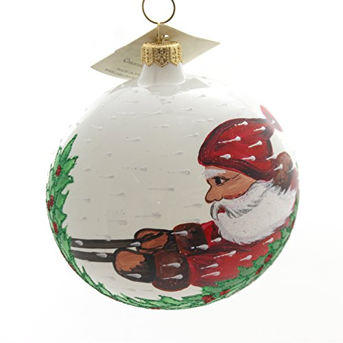 Christina's World Blizzard Santa Glass Christmas Ornament Winter Gif563