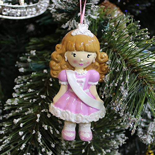 Rudolph and Me Personalize Princess Ornament Christmas-Free Pen with Gifts Box Provided, Made of Resin (Princess)