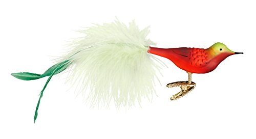 Inge-Glas Clip-On Bird Berti 1-053-17 German Glass Christmas Ornament