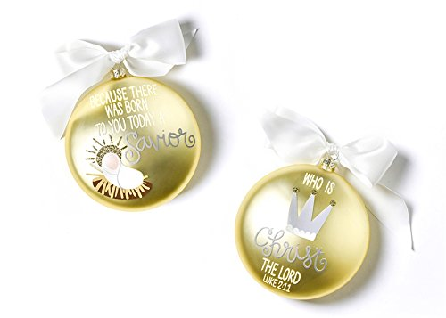 Coton Colors The Birth Of Christ Glass Ornament – Luke 2:11