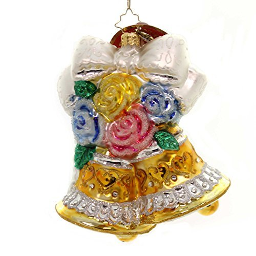 Christopher Radko Bells and Blossoms Bridal Christmas Ornament