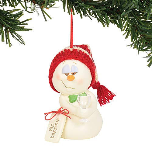 Department 56 Snowpinions Sip Happens Hanging Ornament, 3″, Multicolor