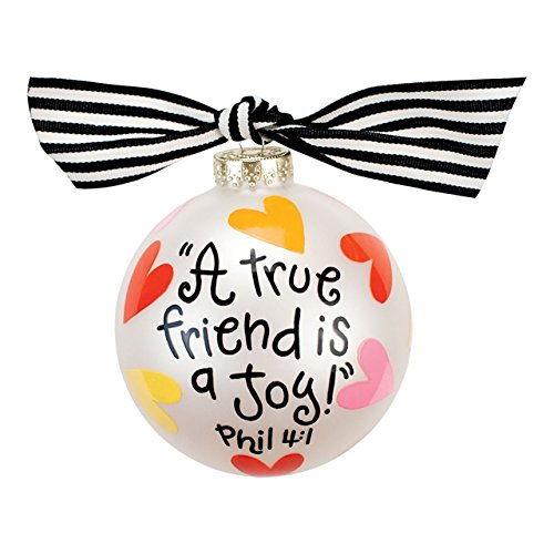 Coton Colors A True Friend Glass Ornament