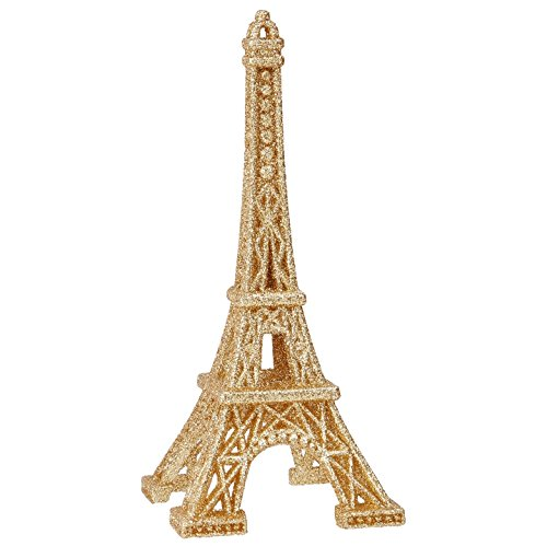 RAZ Imports – 6 Inch Eiffel Tower Figurine Christmas Tree Ornament (Gold)