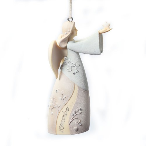 Foundations Remembrance Angel Stone Resin Ornament, 4""