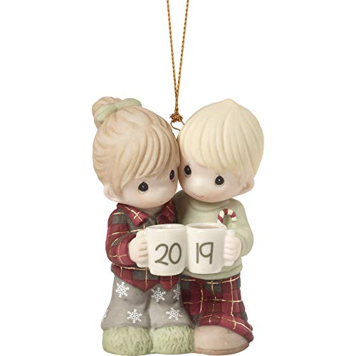 Precious Moments First Christmas Together 2019 Dated Bisque Porcelain Couple 191004 Ornament One Size Multi